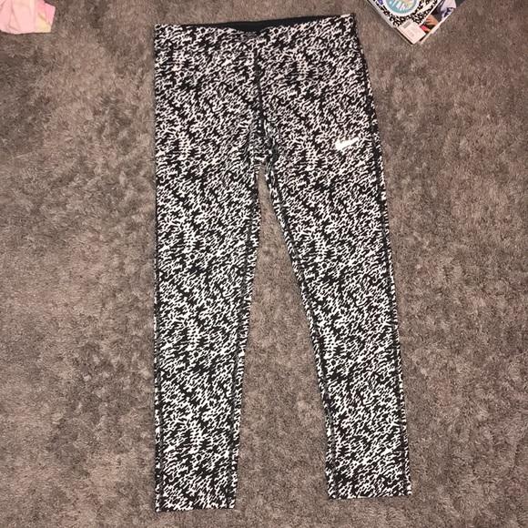 Nike Pants - White and black nike leggings